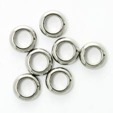 Stainless Steel 5mm Crimp / Spacer Bead Pack