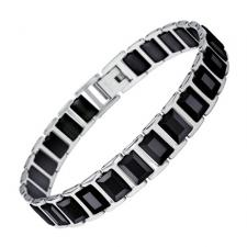 Black Ceramic Zircon Bracelet With Stainless Steel