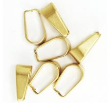 Stainless Steel Gold Pvd Bail Jewelry Part 24pcs