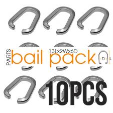 Stainless Steel Bail Package for Pendants - Contains 10 pcs.