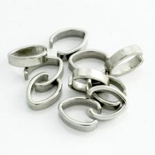 Stainless Steel Oval Bail Jewelry Part 24pcs
