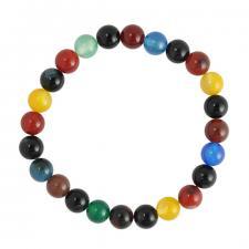 Stretchable Rainbow Beaded Bracelet
