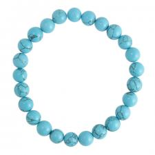 Stretchable Turquoise Marble Beaded Bracelet