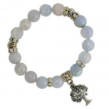 Mother of Pearl Colored Beaded Tree of Life Bracelet