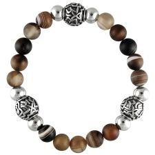 Stretch Cord Bracelet with Natural Stone