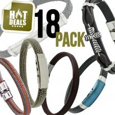 Assorted 18 Stainless Steel Bracelet Pack