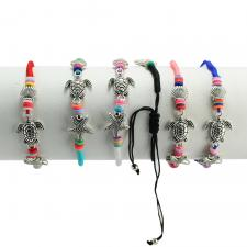 Turtle Mix Fashion Colorful Nylon Bracelet 12PCS