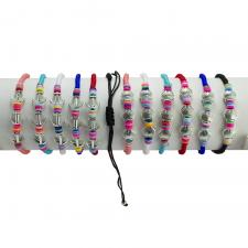 Shell and Anchor Fashion Colorful Nylon Bracelet 12PCS