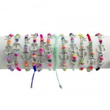 Sea Life Mix Fashion Colorful Nylon Bracelet 12PCS
