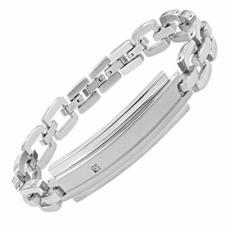 Stainless Steel Bracelet With Diamond