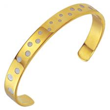 Stainless Steel Bangle - With Modern Design!