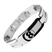 Stainless Steel Bracelet with Black PVD and Epoxy