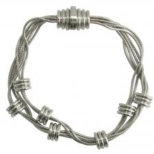Elegant Stainless Steel Bracelet With Magnetic Closure