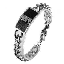 Stainless Steel Bracelet with Black PVD