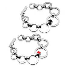 Circular Stainless Steel Bracelet with Optional Enamel Accent