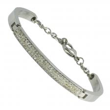 Women Stainless Steel CZ Bracelet