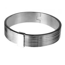 Modern Stainless Steel Bangle With Magnetic Closure
