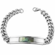 Stainless Steel Bracelet with Shell