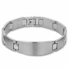 Stainless Steel Brushed Finish ID Bracelet