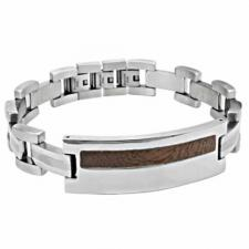 Stainless Steel Bracelet With Wood