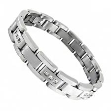 Stainless Steel Bracelet w/ Micro Pave Setting CZ