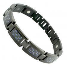Black PVD Bracelet With Blue/BLK Carbon Fiber