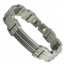 Men's stainless steel bracelet  Length: 8.5