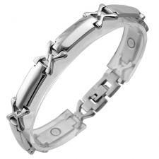 Stainless Steel Magnetic Bracelet With X Design