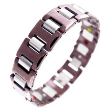 Magnetic Tungsten and Coffee Brown Bracelet