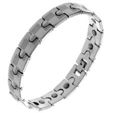 Wholesale Tungsten Bracelet with Checkers pattern