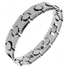 Wholesale Tungsten Bracelet with Oval and H Shape links