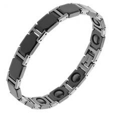 Wholesale Two Tone Black and Tungsten Bracelet