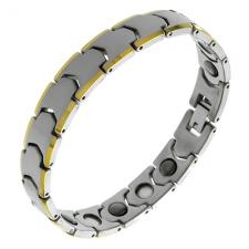 Wholesale Tungsten Bracelet with Yellow PVD edges