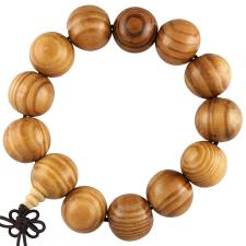 Light Brown Wooden Mala Prayer Bracelet