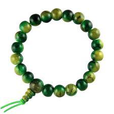 Green Acrylic Prayer Bracelet