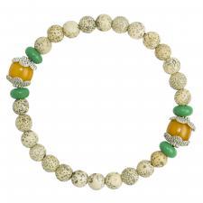 Light Brown Prayer Bracelet w/ 6mm Wooden Beads