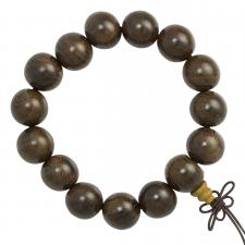 Brown Wood Mala Beaded Bracelet