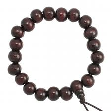 Cherry Wood Beaded Mala Bracelet