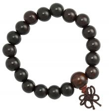 Dark Wood Beaded Mala Bracelet