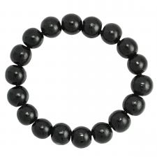 Black Wood Beaded Bracelet