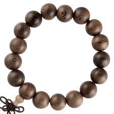 Dark Brown Wood Prayer Bracelet