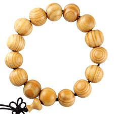 Light Brown Wood Prayer Bracelet