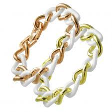 Ceramic and Steel bracelet for Ladies