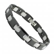 Men's Stainless Steel and Ceramic Bracelet