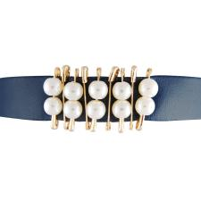 Fashion Choker Necklace w/ Gold Safety Pins and Pearls