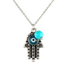 Stainless steel Evil Eye Hamsa pendant