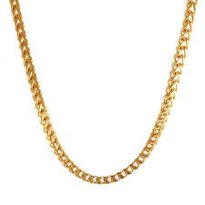 gold franco Cuban link necklace