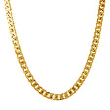 Gold PVD Coated Cuban Curb Link Stainless Steel Necklace