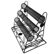 Multi-Bar Black Metallic Display for Bracelets and Bangles
