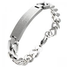 stainless steel curb link bracelet